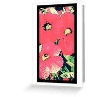 Retro screen floral  Greeting Card
