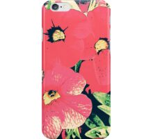 Retro screen floral  iPhone Case/Skin
