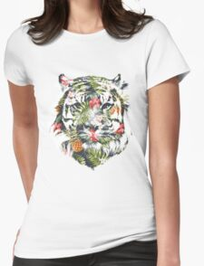 Tropical Tiger Womens Fitted T-Shirt
