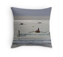 Early training at Lorne Throw Pillow