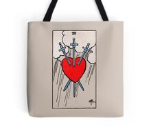 Three of Swords Tarot Card  Tote Bag