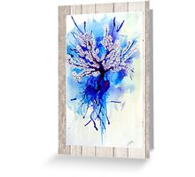 Blue Blossoming  Greeting Card