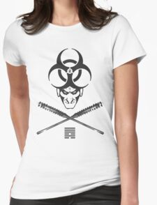 Shadeprint Battle Vest (Wite Trims) Womens Fitted T-Shirt