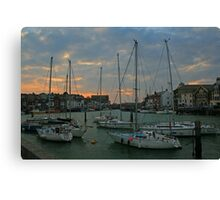 Weymouth Harbour at Dusk Canvas Print