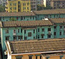 Pastel Buildings - Changsha, China by AlliD