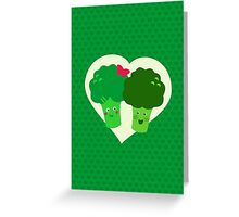 Broccoli in love Greeting Card