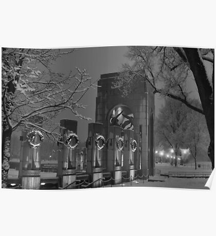 The Atlantic Theater-The World War II Memorial - Washington D.C. Poster