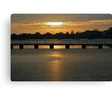 Poole Park Lake Canvas Print