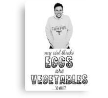 Danny's Eggy Vegetables Canvas Print
