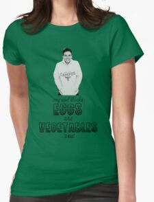 Danny's Eggy Vegetables Womens Fitted T-Shirt