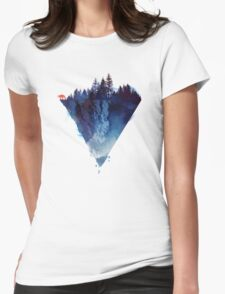 near to the edge Womens Fitted T-Shirt