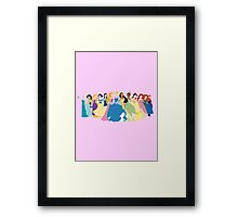 Princesses 2 Framed Print