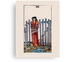 Eight of Swords Tarot Card Canvas Print