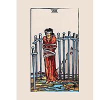 Eight of Swords Tarot Card Photographic Print