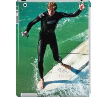 Surfer with Go Pro iPad Case/Skin