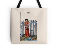 Eight of Swords Tarot Card Tote Bag
