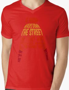 A man walks down the street... Mens V-Neck T-Shirt