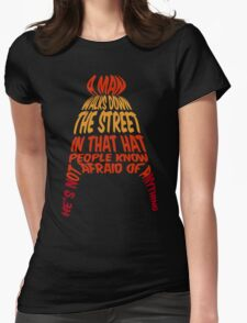 A man walks down the street... Womens Fitted T-Shirt