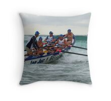 Jan Juc heads for the cans Throw Pillow