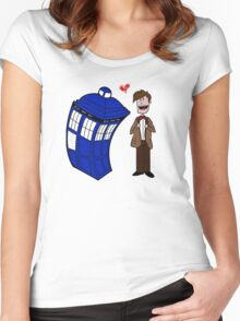 True love through time& space Women's Fitted Scoop T-Shirt