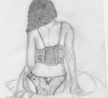 women in underwear line drawing by Kyleacharisse