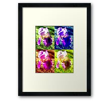 Colorized Iris Framed Print