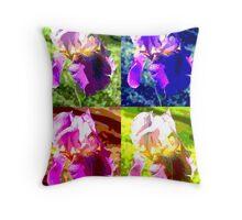 Colorized Iris Throw Pillow