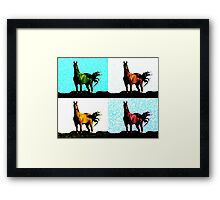 Colorized Horse Framed Print