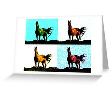 Colorized Horse Greeting Card