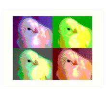 Colorized Chick Art Print