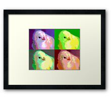 Colorized Chick Framed Print