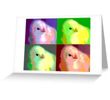 Colorized Chick Greeting Card