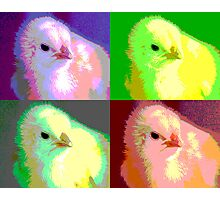 Colorized Chick Photographic Print