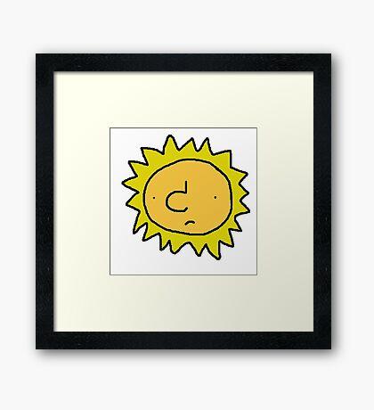 Unhappy Sun Framed Print