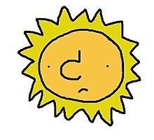 Unhappy Sun Photographic Print