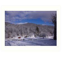 Patton Mountain Snow Scene Art Print