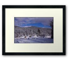 Patton Mountain Snow Scene Framed Print