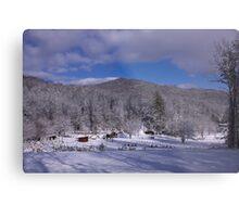 Patton Mountain Snow Scene Metal Print
