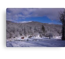 Patton Mountain Snow Scene Canvas Print