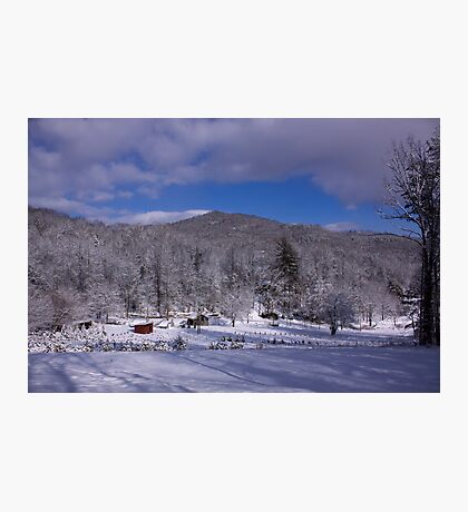 Patton Mountain Snow Scene Photographic Print