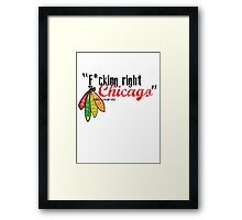Corey Crawford strikes again Framed Print
