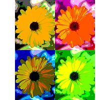 Colorized Flower Photographic Print