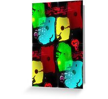 Abstract tessallation Greeting Card