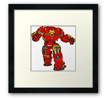 Tony Stark's Hulkbuster Suit Armour , Black outline with colour fill Framed Print