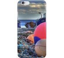 Boats on the beach iPhone Case/Skin