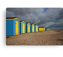 Littlehampton beach huts Canvas Print