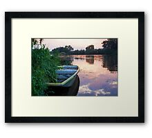 The Tranquil Elbe River Framed Print