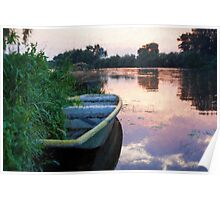 The Tranquil Elbe River Poster