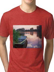 The Tranquil Elbe River Tri-blend T-Shirt