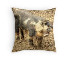 Ernie, The Incredibly Hairy Laughing Pig Throw Pillow
